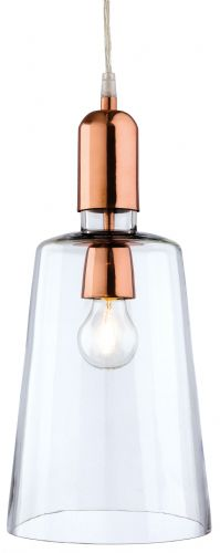 Firstlight 2350CP Clear Glass with Copper Craft Pendant